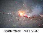 firecracker exploding in the... | Shutterstock . vector #781479037