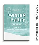 poster on winter party on 21st... | Shutterstock .eps vector #781488733