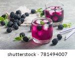 refreshing lemonade with... | Shutterstock . vector #781494007