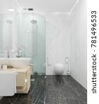3d rendering of luxury bathroom ... | Shutterstock . vector #781496533