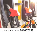 colourful petrol pump fuel... | Shutterstock . vector #781497157