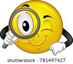 illustration of a smiley mascot ...   Shutterstock .eps vector #781497427