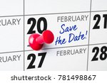 wall calendar with a red pin  ...   Shutterstock . vector #781498867
