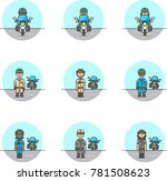 crime police  multicolor icon... | Shutterstock .eps vector #781508623