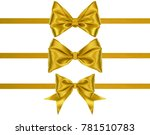 set of decoration golden silk... | Shutterstock . vector #781510783
