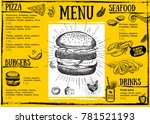 restaurant cafe menu  template... | Shutterstock .eps vector #781521193