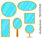 mirror  a set of realistic...   Shutterstock .eps vector #781525543