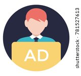 a professional agent holding ad ... | Shutterstock .eps vector #781527613