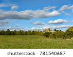 green landscape with trees in a ... | Shutterstock . vector #781540687