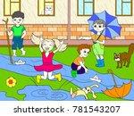 kids color vector children... | Shutterstock .eps vector #781543207