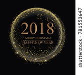 happy new year background with... | Shutterstock .eps vector #781553647