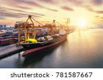 aerial view of business port... | Shutterstock . vector #781587667