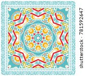decorative colorful ornament on ... | Shutterstock .eps vector #781592647