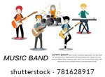 musicians and musical... | Shutterstock .eps vector #781628917