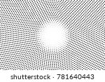 black and white dotted halftone.... | Shutterstock .eps vector #781640443