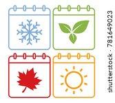 colorful season calendar icons. ... | Shutterstock .eps vector #781649023