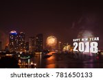 Small photo of celebration fireworks countdown bangkok countdown on the river