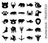wildlife icons. set of 25... | Shutterstock .eps vector #781651513