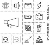 electricity icons. set of 13... | Shutterstock .eps vector #781652677