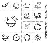circular icons. set of 13... | Shutterstock .eps vector #781652893
