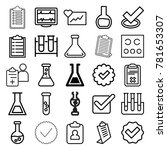 test icons. set of 25 editable... | Shutterstock .eps vector #781653307