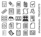 file icons. set of 25 editable... | Shutterstock .eps vector #781653373