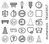 stop icons. set of 25 editable... | Shutterstock .eps vector #781653517