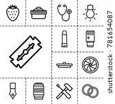 macro icons set of 13 editable