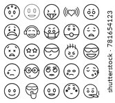 emotion icons. set of 25... | Shutterstock .eps vector #781654123