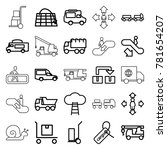 moving icons. set of 25... | Shutterstock .eps vector #781654207
