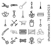 gardening icons. set of 25... | Shutterstock .eps vector #781654213