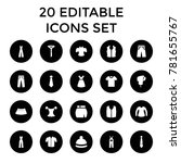 apparel icons. set of 20... | Shutterstock .eps vector #781655767