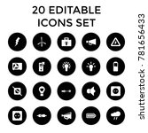 electricity icons. set of 20... | Shutterstock .eps vector #781656433