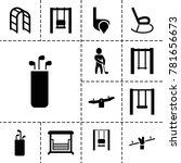 swing icons. set of 13 editable ... | Shutterstock .eps vector #781656673