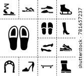 shoe icons. set of 13 editable... | Shutterstock .eps vector #781657237