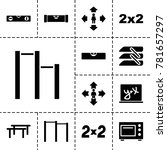horizontal icons. set of 13... | Shutterstock .eps vector #781657297