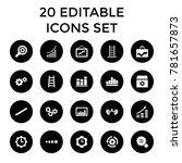 progress icons. set of 20...   Shutterstock .eps vector #781657873