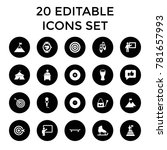 performance icons. set of 20... | Shutterstock .eps vector #781657993