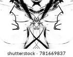 grunge black paint.isolated on... | Shutterstock . vector #781669837