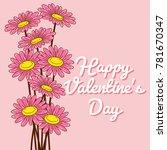 valentine's day vector...   Shutterstock .eps vector #781670347