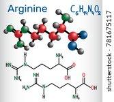 arginine  arg  r  amino acid... | Shutterstock .eps vector #781675117