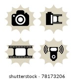 Lot of photography icon, vector illustration - stock vector