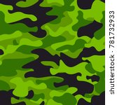 green camouflage seamless... | Shutterstock .eps vector #781732933