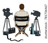 stage director on set pop art... | Shutterstock .eps vector #781736467