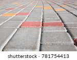 paving slabs of gray color... | Shutterstock . vector #781754413