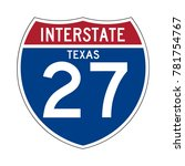 interstate highway 27 texas... | Shutterstock .eps vector #781754767