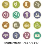 electricity vector icons for... | Shutterstock .eps vector #781771147