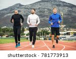 young athletes practicing a run ... | Shutterstock . vector #781773913
