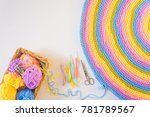 Crocheted Home Bright Colored...