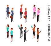 man and woman businessman.... | Shutterstock . vector #781794847